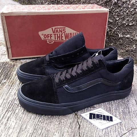 297c59b9805 JUAL Sepatu Vans Oldskool Full All Black Hitam Full   Original Premium  Waffle ICC DT BNIB IFC Made In China   Vans Half Cab Thrasher Golf Wang  WTAPS Pro ...